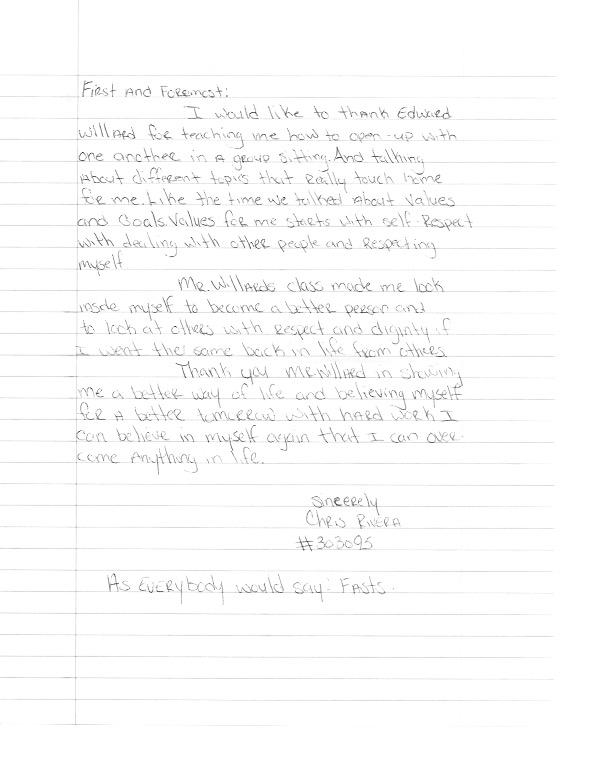 Handwritten Graduation Letter